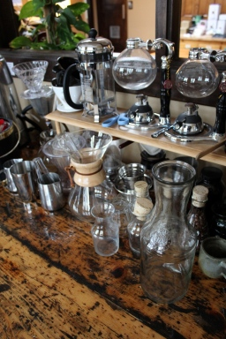 A barista's tools. Photo by Emmy Yates.